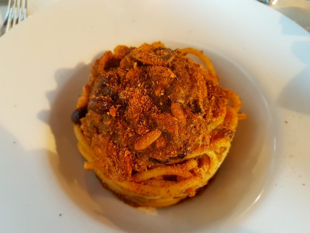 Buccatini aux sardines