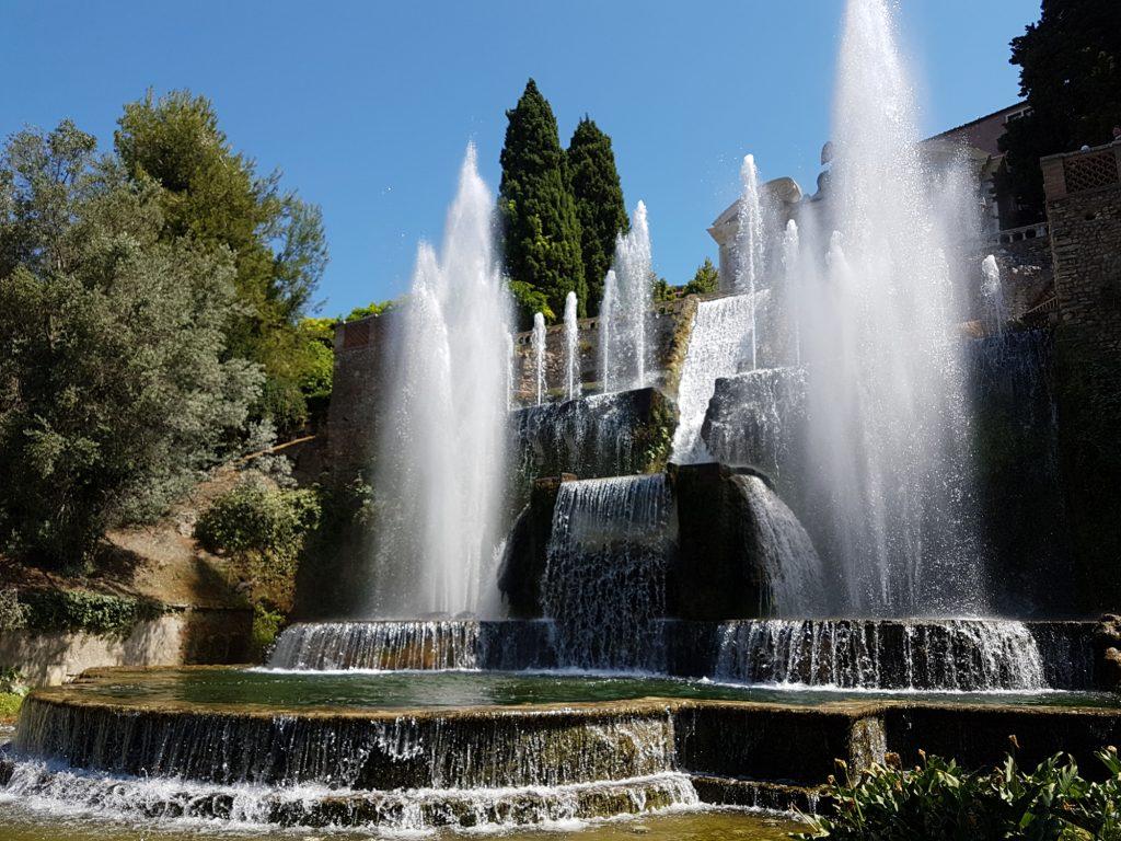 Fontaines de la villa d'Este à Tivoli