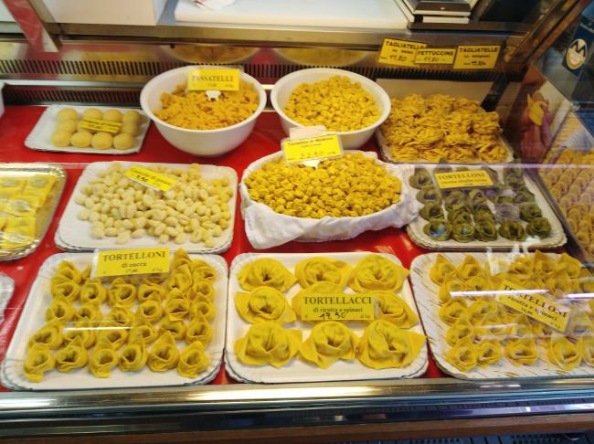 Pâtes farcies à Bologne